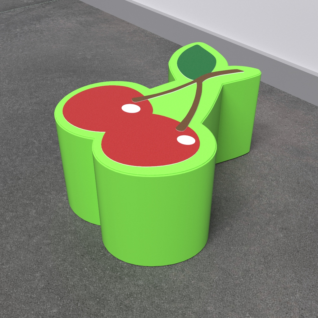 This image shows a soft play Cherry