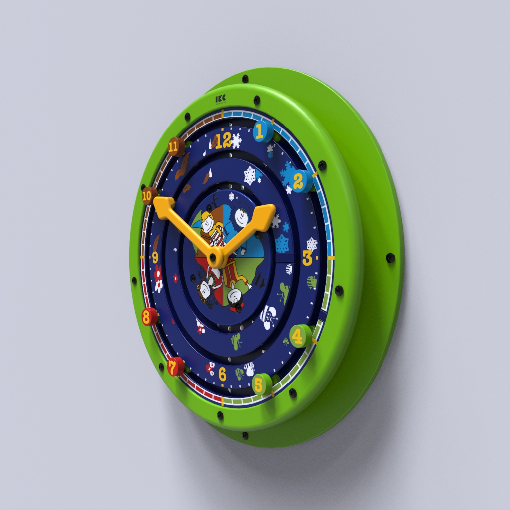 This image shows a wall game Clock around