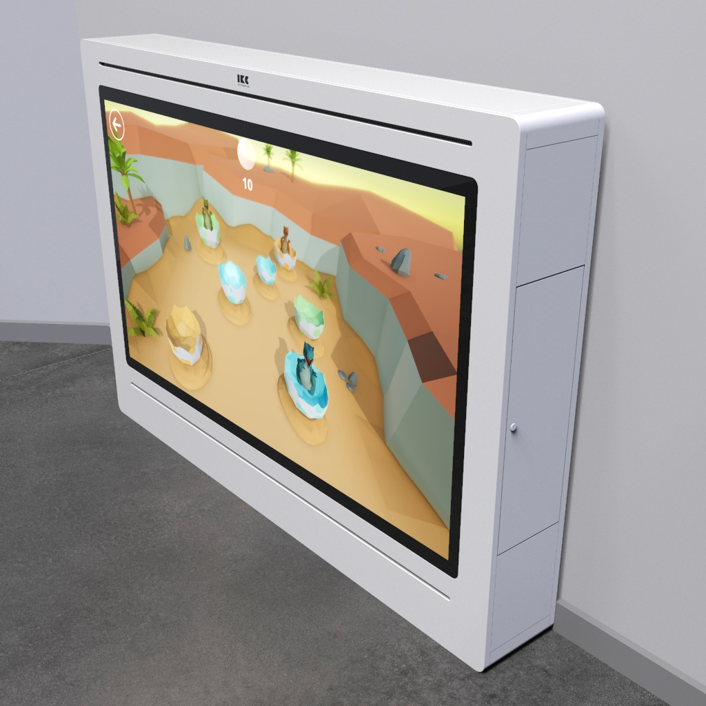 This image shows an interactive play system Delta 65 inch