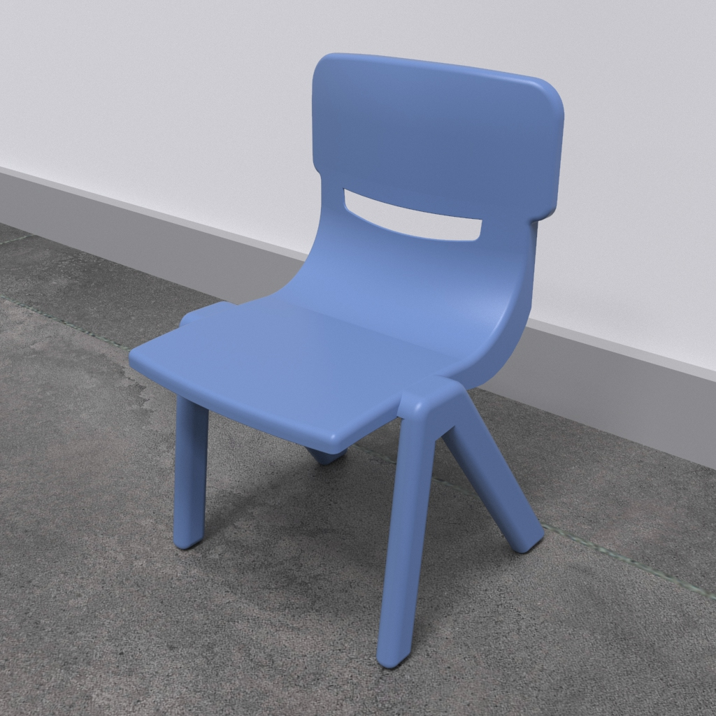 This image shows an Kids furniture Fun chair blue