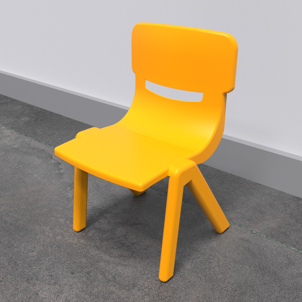 This image shows an Kids furniture Fun chair yellow