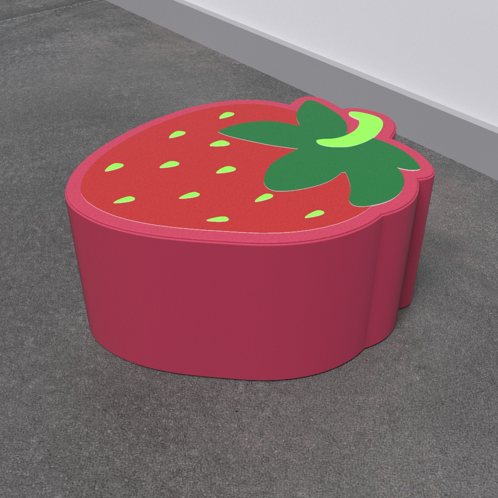 This image shows a soft play Strawberry