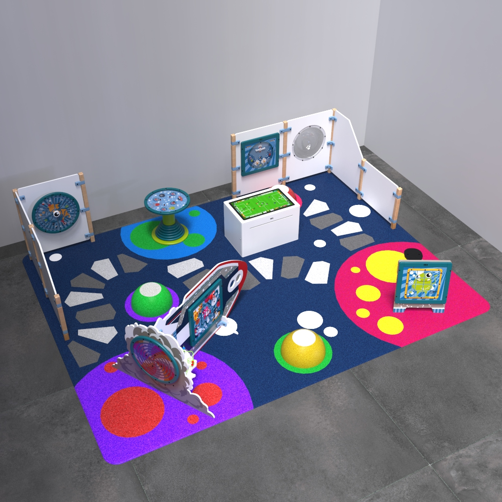 This image shows an kids corner Monster L 12 m²