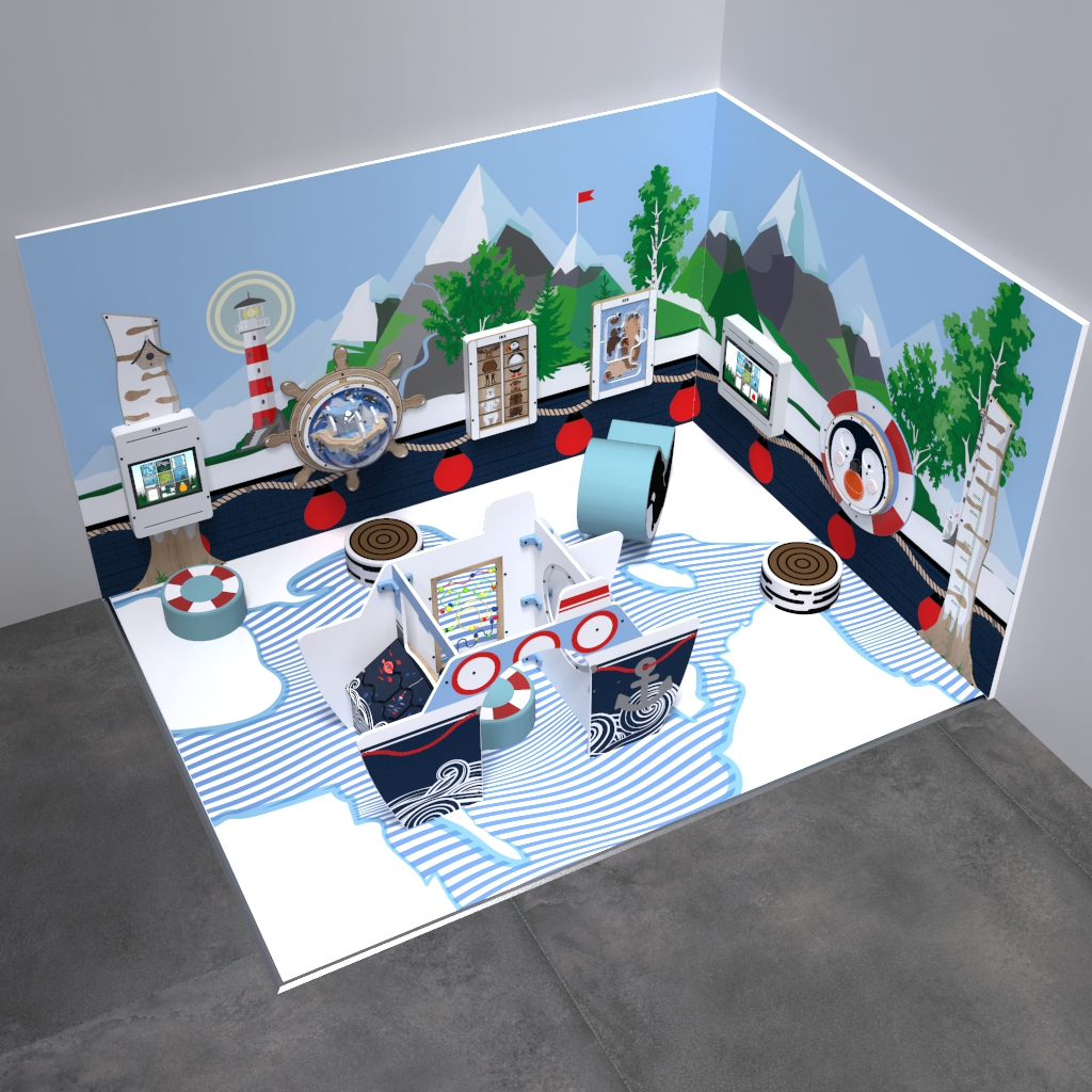 This image shows an kids corner Arctic L 12 m²