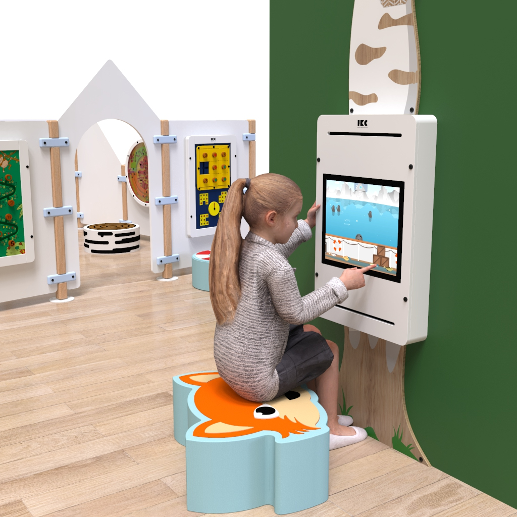 This image shows an interactive play system Delta 17 inch white