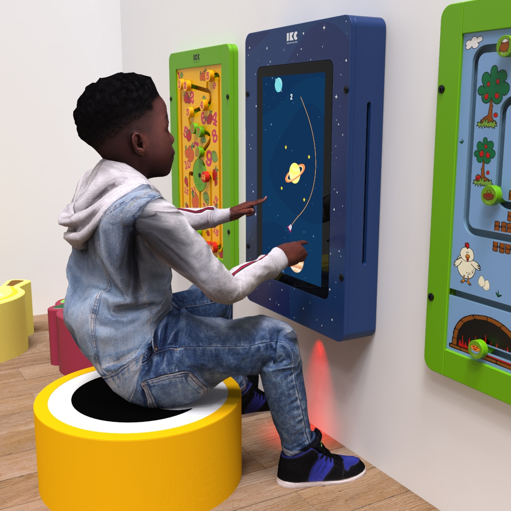 This image shows an interactive play system Delta 21 inch Orbits