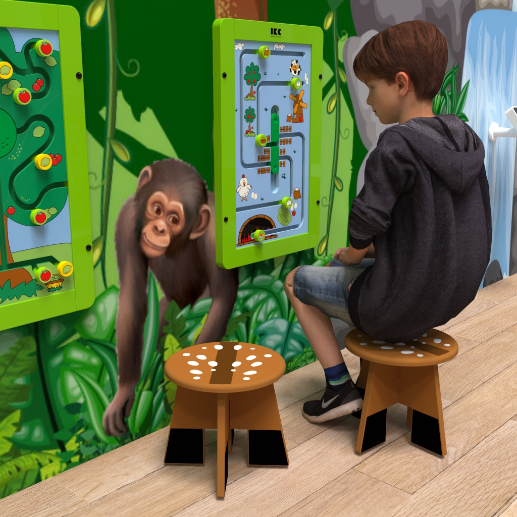 This image shows a kids stool | IKC kids furniture