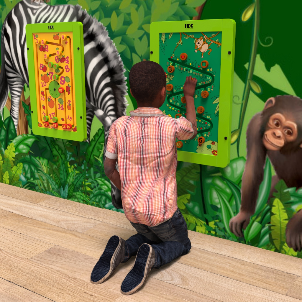 This image shows a wall game Jungle fever