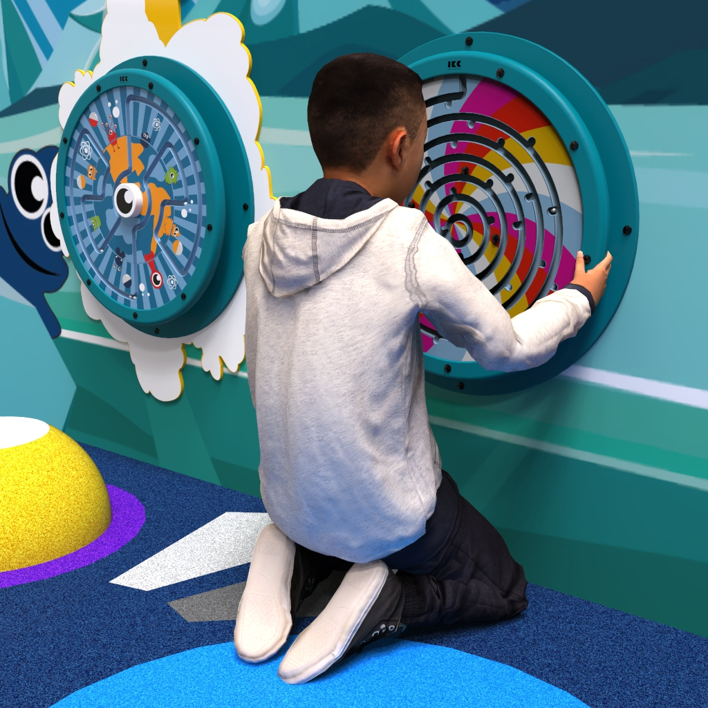 This image shows a wall game Rainbow drops