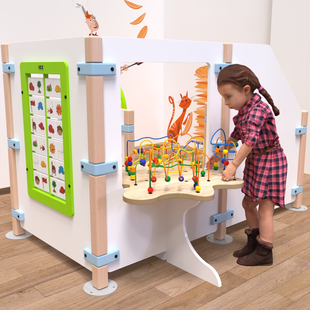 This image shows Play fence bead table beastree table