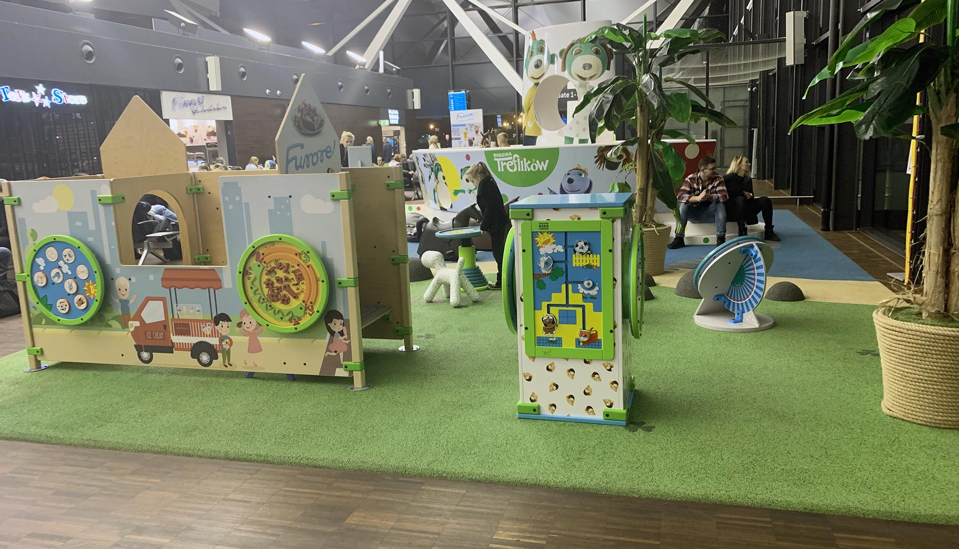 Kids corner at airport Gdansk in Poland