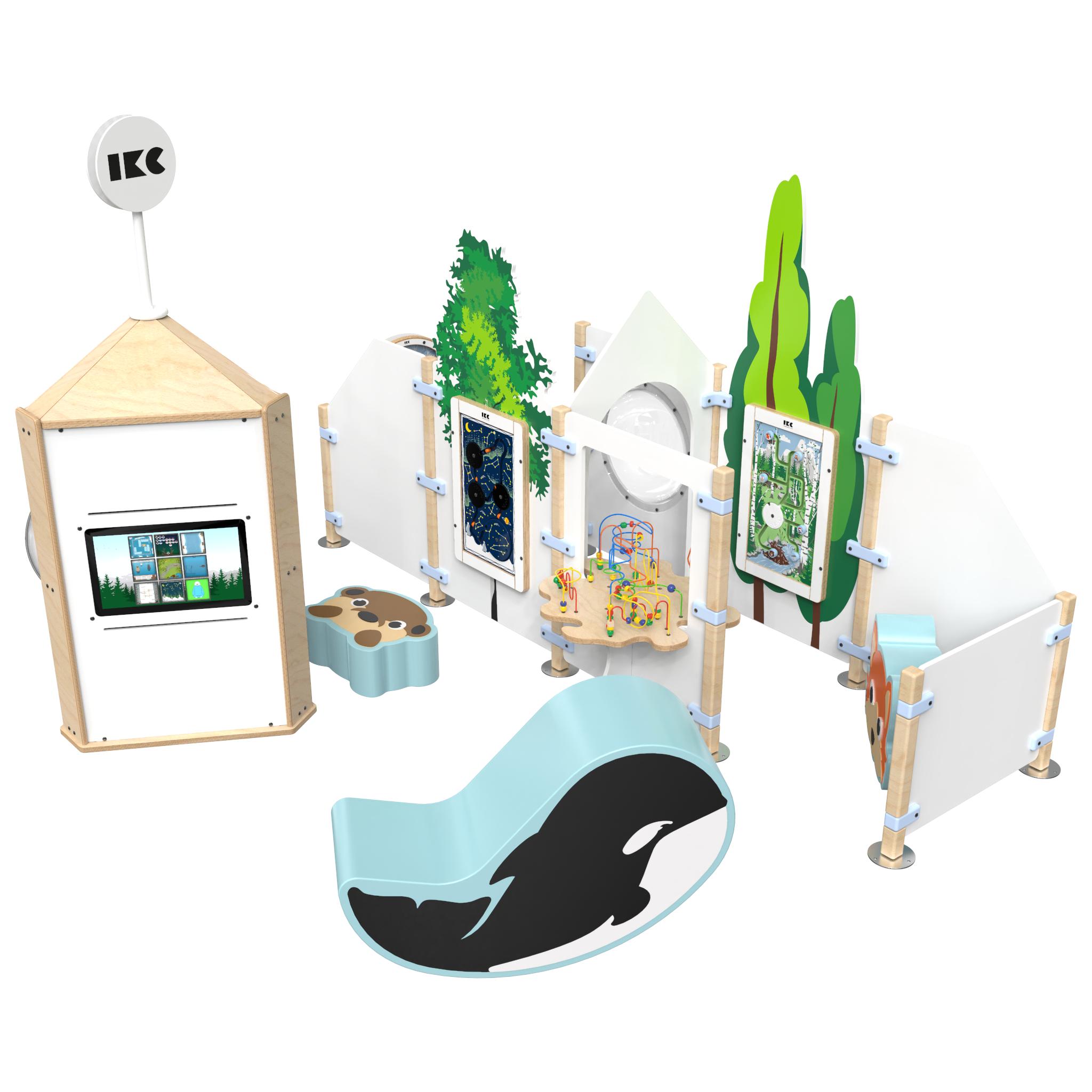 This image shows a play corner | IKC play corners