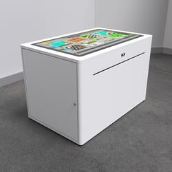 This image shows an interactive play system Delta 32 inch touchtable