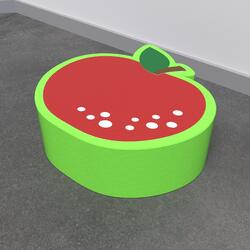 This image shows a soft play Apple