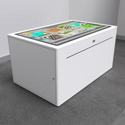 This image shows an interactive play system Delta 43 inch touchtable