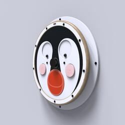 This image shows a wall game Happy penguin