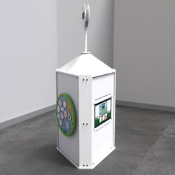 This image shows an interactive play system Playtower touch white