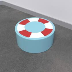 This image shows a soft play Life buoy