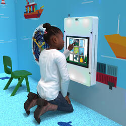 This image shows an interactive play system Delta 17 inch Echo adaptive