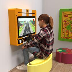 This image shows an interactive play system Delta 21 inch Nitro dash