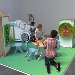 This image shows an kids corner Classic L 12 m²