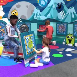 This image shows an kids corner Monster M 6 m²