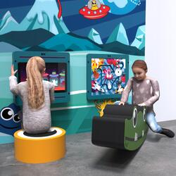 This image shows an kids corner Monster S 2 m²