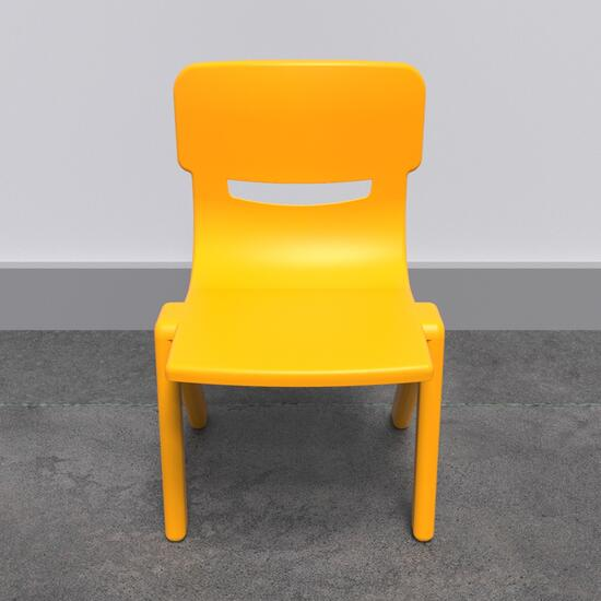 Op deze afbeelding staat een kindermeubel Fun chair yellow