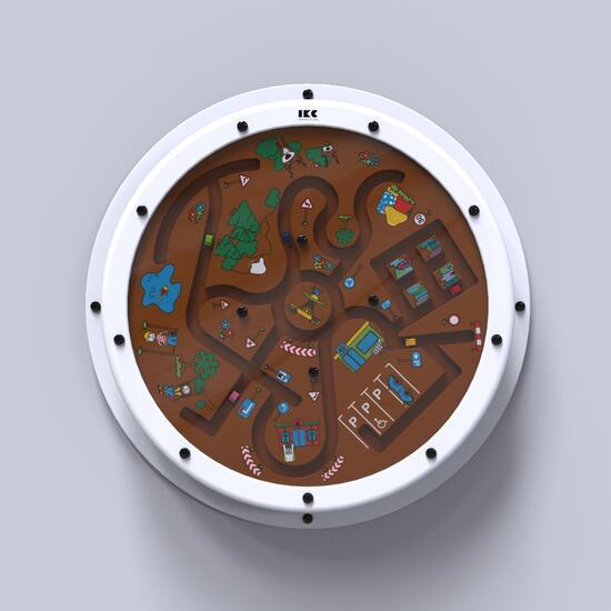 Op deze afbeelding staat een wandspel Clock around