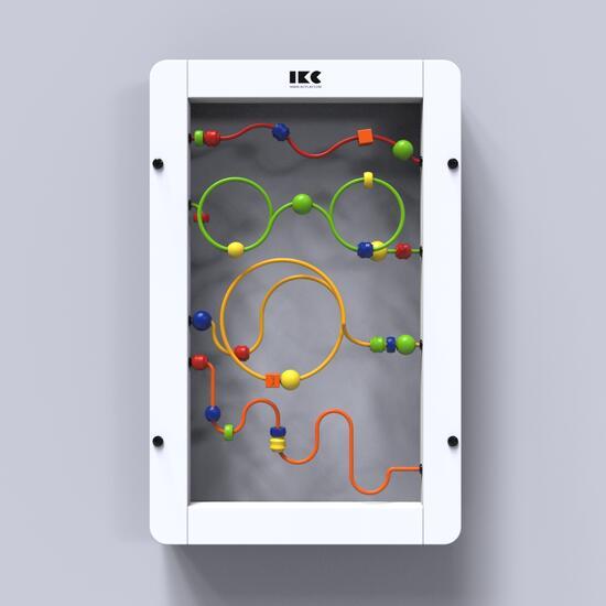 Op deze afbeelding staat een wandspel Wire beads