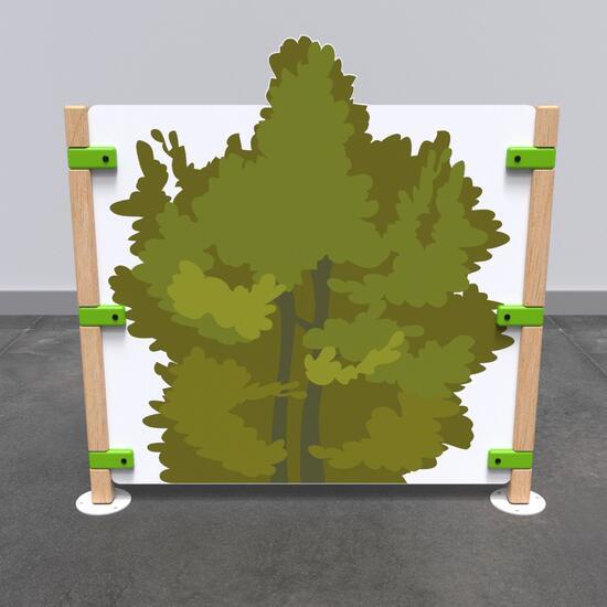 Op deze afbeelding staat speelhek Fence bush