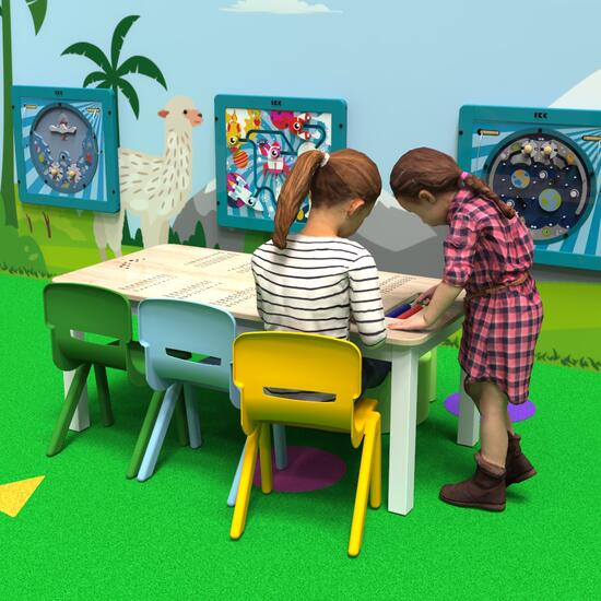 This image shows a kids table   IKC kids furniture