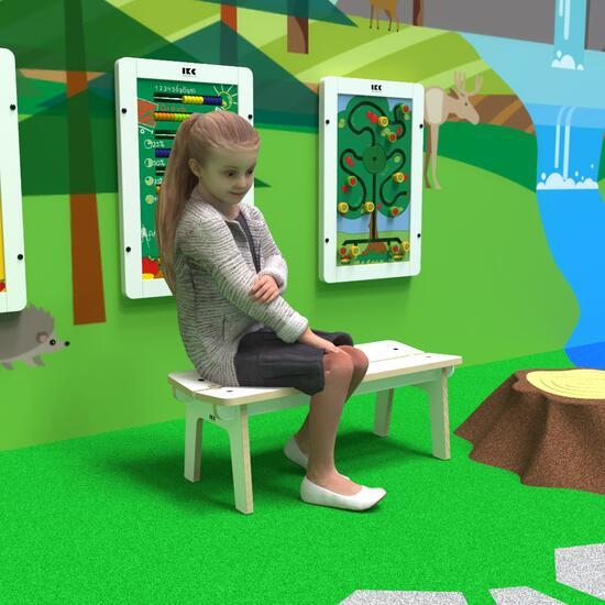 Op deze afbeelding ziet u kindermeubel buxus kinderbank wit