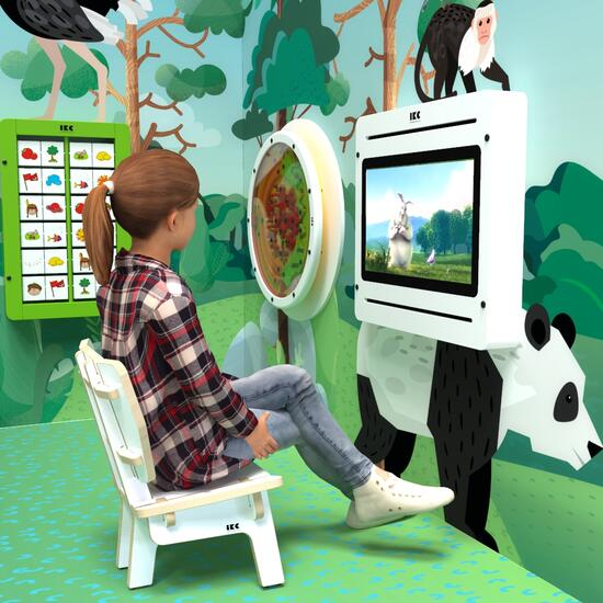 Op deze afbeelding ziet u kindermeubel kinderstoel loungestoel wit