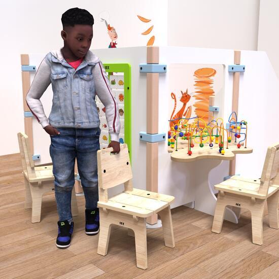 Op deze afbeelding ziet u kindermeubel buxus kinderstoel hout