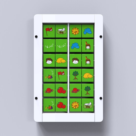 On this image you can see Memory wall games white with green