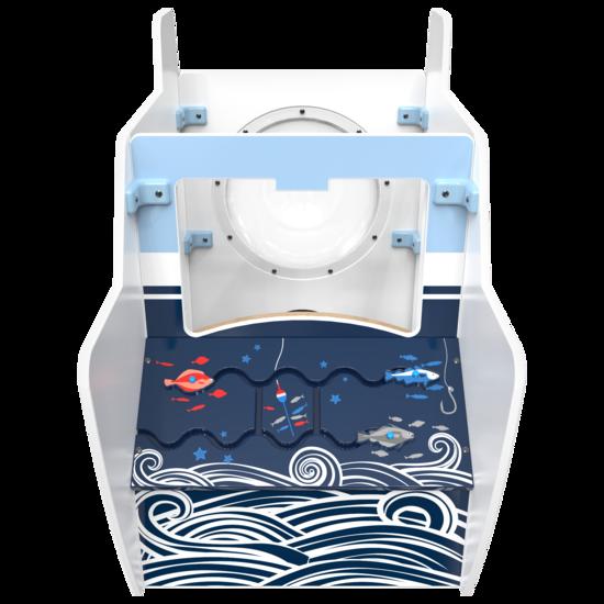 Het speelsysteem All Aboard is een vrijstaand element voor in een kinderhoek | IKC Speelsystemen
