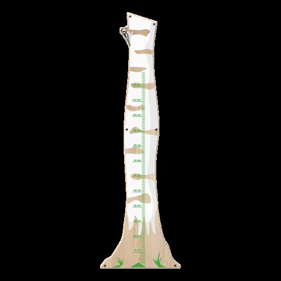 Een meetlat met een berkenhouten uitstraling voor uw kinderhoek | IKC speelsystemen