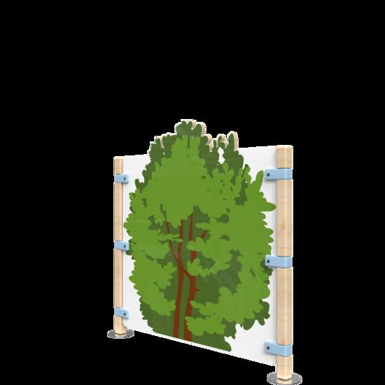 Een bosachtig hekwerk voor een speelhoek voor kinderen | IKC Hekwerken