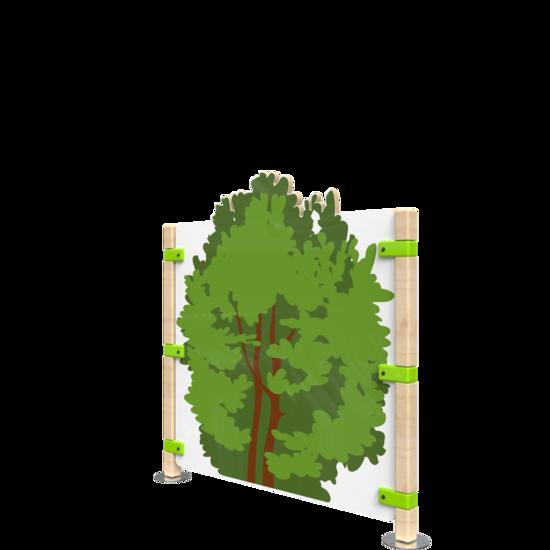 Hekwerk voor kinderhoek met de uitstraling van een bos | IKC Hekwerken