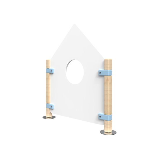 Huis hekwerk voor kinderhoek | IKC Hekwerken