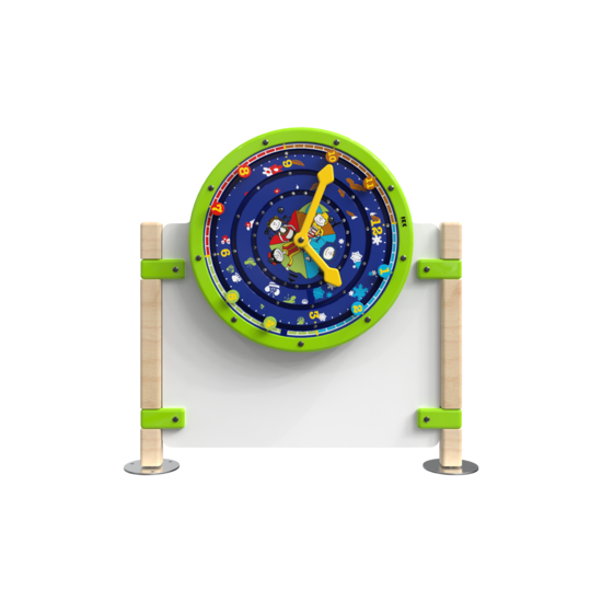 Laag hekwerk voor kinderhoek met een speelwiel wandspel | IKC Hekwerken