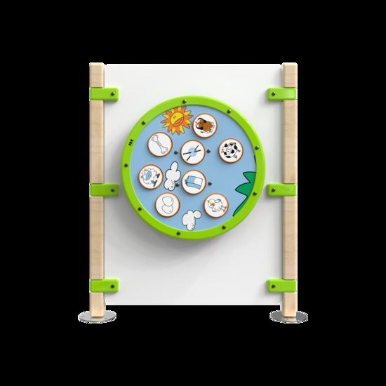 Hekwerk voor een kinderhoek met een speelwiel | IKC Hekwerken
