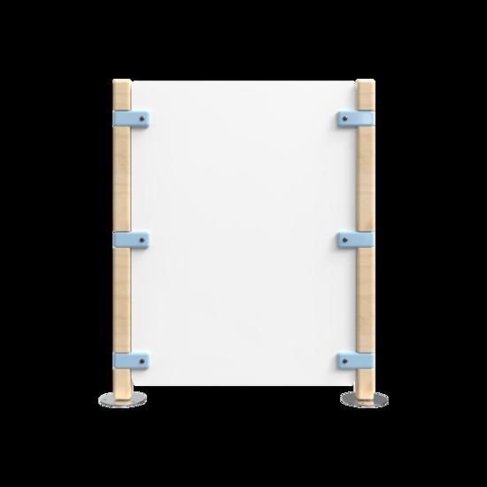 Hekwerk voor een kinderhoek blauw met wit | IKC Hekwerken