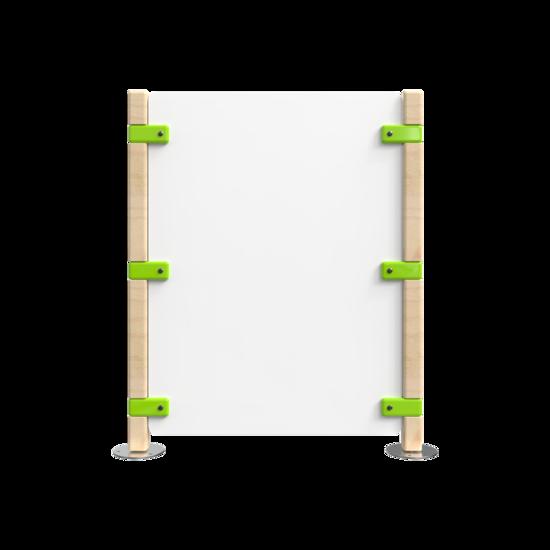 Hekwerk voor een kinderhoek groen met wit | IKC Hekwerken