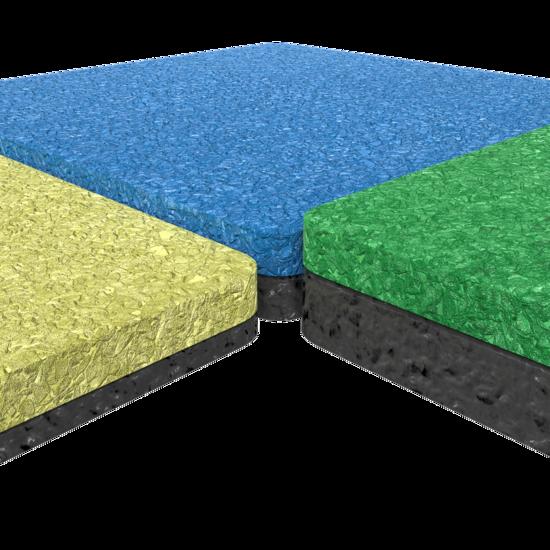 Valdempende speelvloer in verschillende kleuren