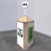 Op deze afbeelding staat een interactief speelsysteem Playtower touch wood
