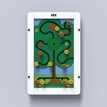 Op deze afbeelding staat een wandspel Sorting tree