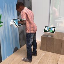 Op deze afbeelding staat een interactief speelsysteem Delta 10 inch