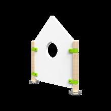 Laag hekwerk voor kinderhoek in de vorm van een huis | IKC Hekwerken